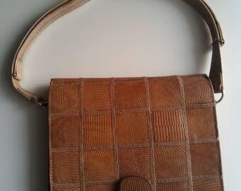 Vintage lizard skin bag