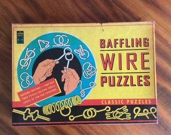 Vintage Classic Baffling Wire Puzzles | Toy | Barain Teaser Puzzles