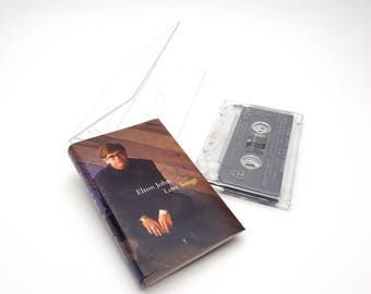 Elton John Love Songs Cassette Tape Vintage from 1996 Can you Feel the Love Tonight MCA Records Made in Canada Retro Music Artist Singer