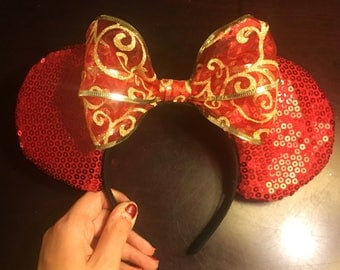 Holiday Themed Disney Mickey Mouse Ears