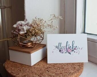 Postkarte • Alles Liebe