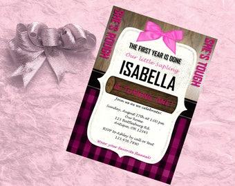 Rough & Tough Girl Birthday Invitation