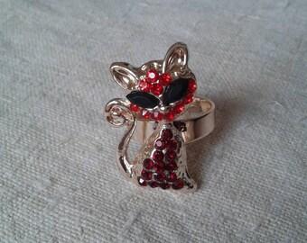 """""""little red cat"""" ring"""