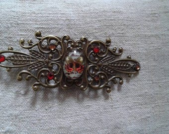"brooch ""stamp and cabochon Butterfly"""