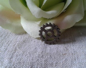 "set of 10 ""steampunk"" gears connectors bronze"