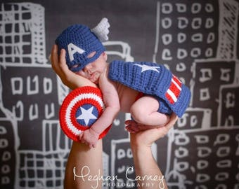 Newborn Baby Super Hero Outfit, Custom Made to Order