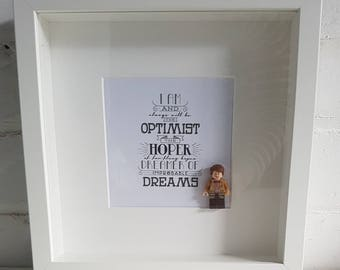 Dr Who//Shadow Box Frame//Minifigure//Gift//Personalise//Eleventh Doctor//Matt Smith//Tardis//Geek//Birthday//Lego//Friend//Fathers Day