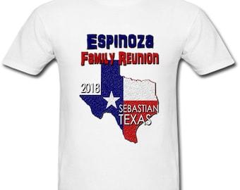 Personalized Texas Family Reunion Tee Shirt