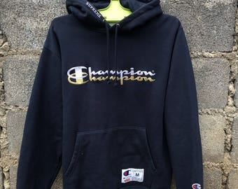 Champion X Supreme Hoodie SpellOut Logo