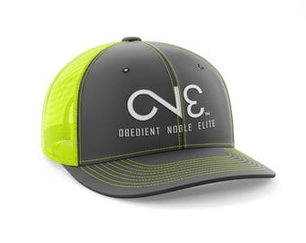 O.N.E. Charcoal Neon Yellow Trucker Mesh Back Hat