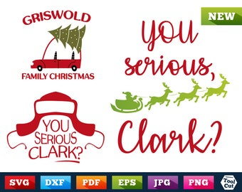 Griswold Family Christmas 3 in 1 Design Bundle Christmas Svg You Serious Clark Svg Santa Cricut Clark Hat Svg Griswold's Car Silhouette Dxf