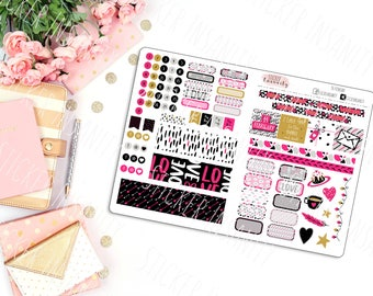 February Monthly B6 Kit: planner stickers, sew much crafting, travelers notebook, annie plans,