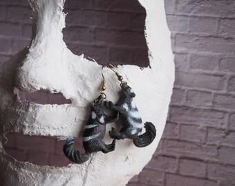 Animal Earrings - Skunk