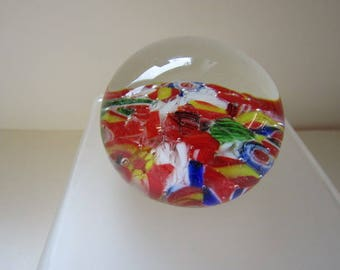 Small multi coloured paperweight