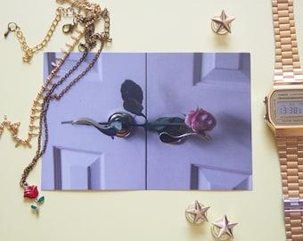 "Pink Rose photo print-4x6"" print"