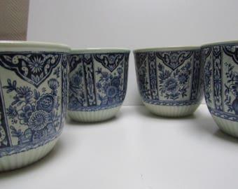 Delft Blue Vase/Belgium Royal/CA 1970/4 pieces