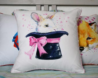 """Hello, Bunny!"" pillow cover 40x40cm"