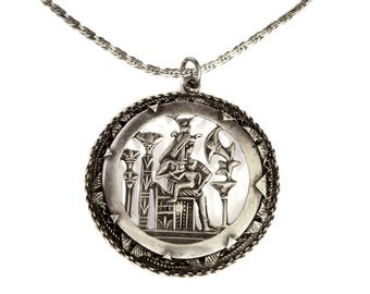 RESERVED FOR N, Egyptian Pendant Necklace, Ancient Egypt Necklace, Mother and Child, Breastfeeding Maternity Jewelry, Story Teller Jewelry