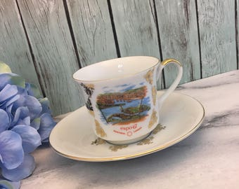 Montreal Expo 67 Teacup and Saucer Vintage Set by Schwartzenhammer Germany Made