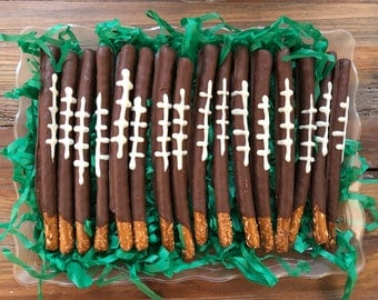 Football Chocolate Covered Pretzel Superbowl