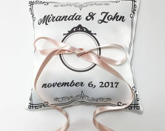Bearer ring pillow Personalized ring bearer pillow wedding pillow wedding cushion Ring bearer ring pillow wedding
