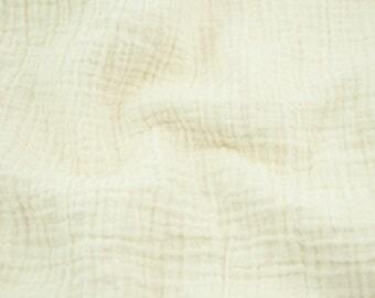 """Wholesale Double Gauze Fabric 15 yards - vanilla (ivory) - Sunny Double Gauze Fabric - 100% cotton muslin swaddle fabric, 52"""" wide"""