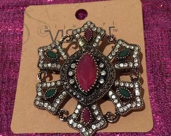 Jeweled Hijab Pin Brooch