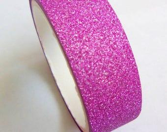Washi tape 3 m hot pink glitter