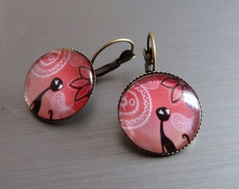 """""""Ethnic cat"""" earrings"""