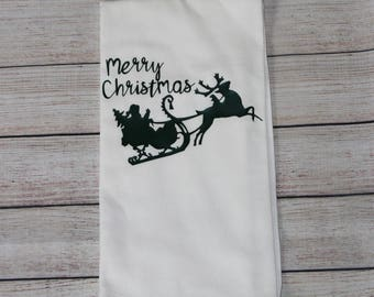 Christmas kitchen towel , flour sack Christmas towel , Christmas tea towel , Christmas towel , kitchen towel for Christmas