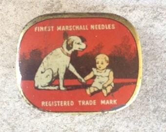 Antique Phonograph Gramophone MARSCHALL Original Needles with Tin Box