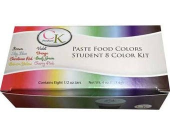 8 Count Box 0.5 ounce CK Gel Paste Colors for baking, candy color, candy apples
