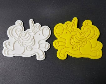 Happy Unicorn Cookie Cutter and Stamp