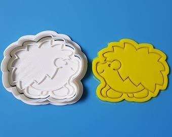 Hedgehog Cookie Cutter and Stamp