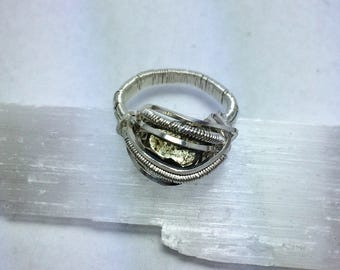 Iron Pyrite ring