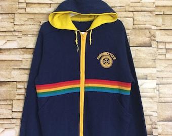 Sale Vintage SOUTHWESTERN RAINBOW stripe hoodies zip up