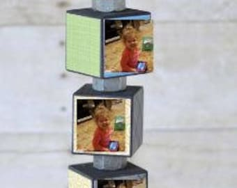 Father's Day Gift - Father's Day - Picture Blocks - Grandparent's Gift - Grandparent's Day - Picture Block Gift - Gift - Father's Day Hammer