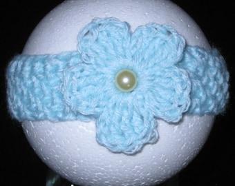 Newborn Flower Headband, Newborn Blue Headband, Baby Headband, Infant headband, Photo Prop Headband