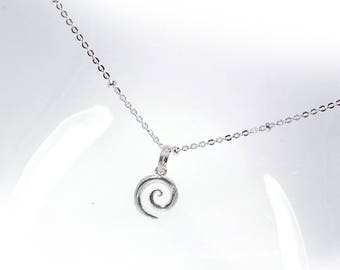Rounded Necklace in Solid Sterling 925 Silver (SN004)