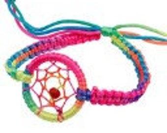 Rainbow dream catcher bracelet durable fashion bracelet