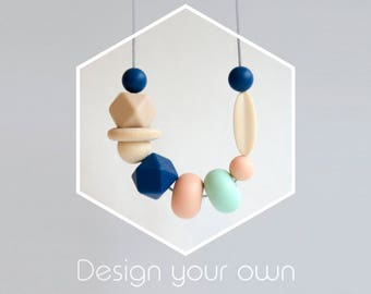 Silicone Teething Necklace   Design Your Own   Teething Jewelry   Breastfeeding Necklace   Teething Necklace for Mom   Sensory Necklace