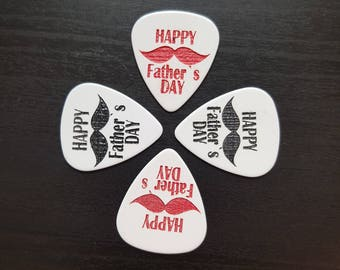 Fathers Day Guitar Pick (Plectrum) set of 4