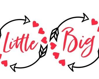 Big Little Arrow Decal, Big Little Reveal Sorority Gift