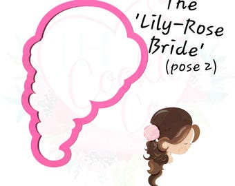 the lily rose bride (pose 2) cookie cutter