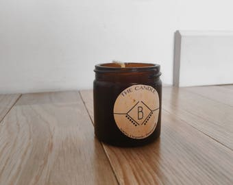 100% Organic Pure Beeswax, Apothecary Candle - In Jar.