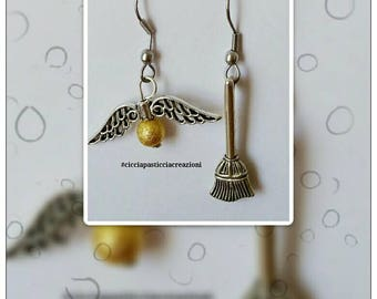 """Harry Potter"" pendant Handmade earrings"