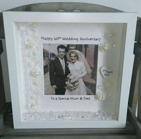 60 Years Wedding Anniversary Gifts: 60th Wedding Anniversary Gift, Anniversary Frame, Diamond