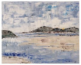 Abstract Seascape Wall Art. Abstract Artwork. Abstract Painting. Oil on Canvas. Seascape Painting. Abstract Art. Contemporary Art.