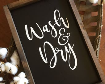 Wash and dry sign, laundry sign, laundry room sign, laundry room decor, mudroom sign, rustic laundry sign, wood sign, farmhouse signs