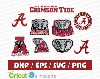 Alabama Crimson Tide Svg Dxf Eps Png Cut File Pack